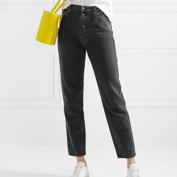 7c45732721db J Brand Denim - J Brand Heather Button-Fly Cropped Jean